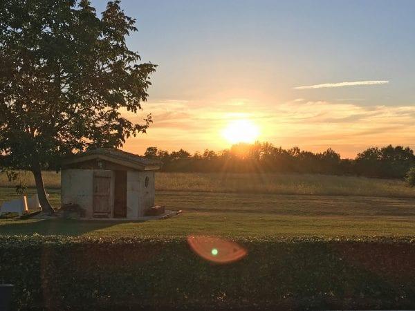 Maison Fontaine sunset