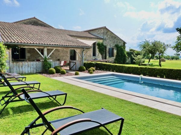 Private heated 12m x 4m pool, secured by an alarm, surrounded by a hedge and is gated