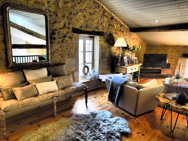 The tv lounge area