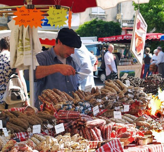 There are weekly farmers markets in many local towns