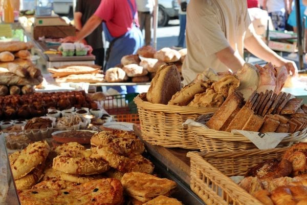 Weekly farmers markets in many local towns