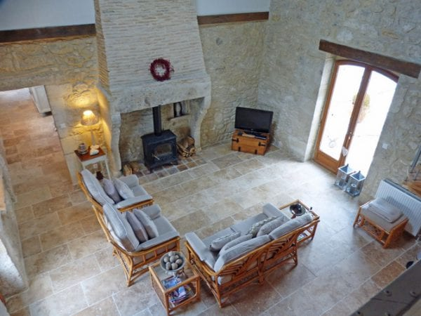 Open Plan Living Space With Original Fireplace