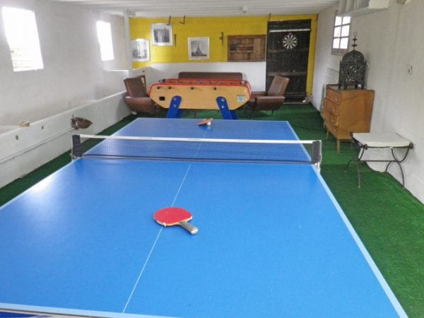 Great entertainment, games room with table tennis