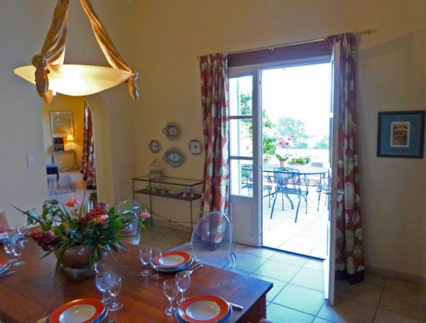 Dining room with direct access to the kitchen and outside dining terrace