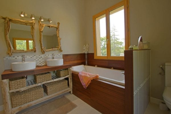 Upper floor bathroom with a walk in shower