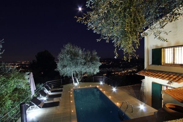 Candlelit pool