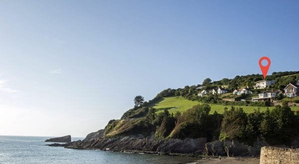 This holiday home has commanding sea over looking the bay and beach of Combe Martin