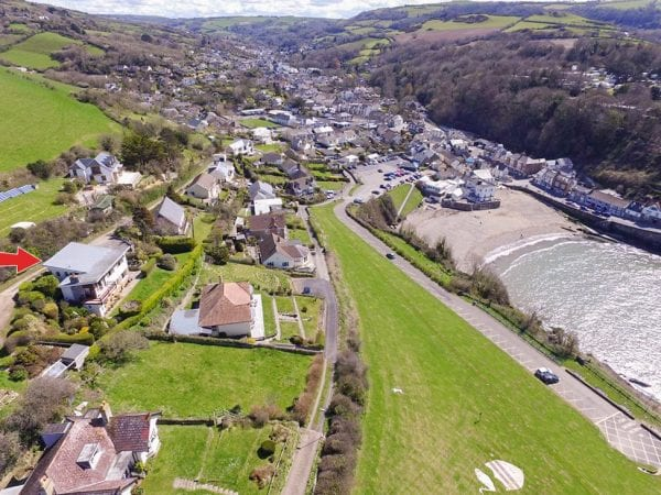 Bay view holiday home in Combe Martin North Devon