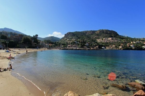 Beautiful sheltered beach and cove at theoule just 50 minutes drive away