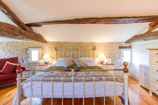 Master bedroom with oak beams