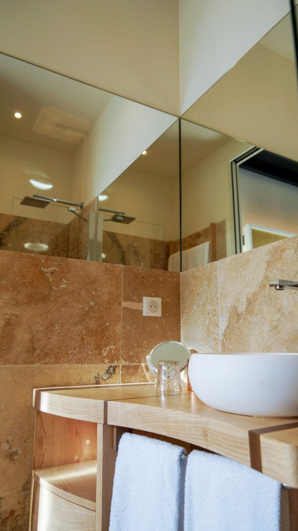 Bedroom 4 shower room and wash basin