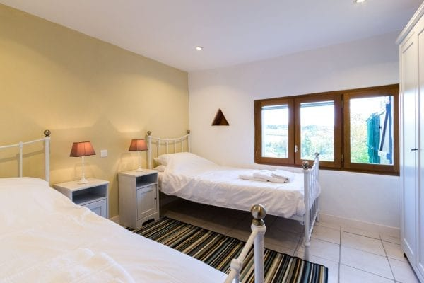 Bedroom 4 with valley views, twin beds or can be a large double, next to bedroom 3