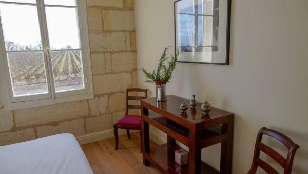 Bedroom 6 with vineyard views
