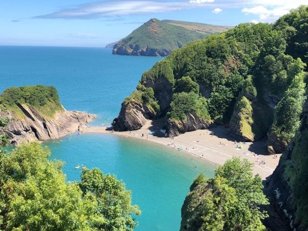 Broadsands beach 1.6 mile walk via the coastal path or drive, known as little Thailand for its resemblance, also famous for its 200 plus steps