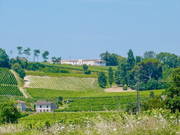 Chateau Vrai Canon Bouche set up on the hill