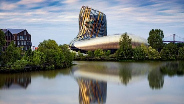 Cite du vin, wine museum in Bordeaux, amazing modern architecture