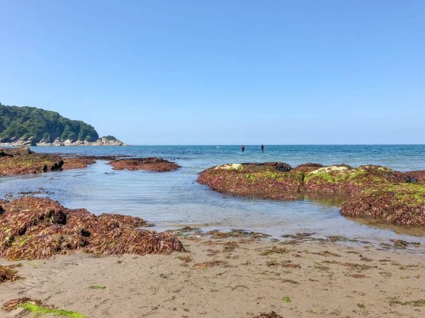 Combe Martin beach at very low tide
