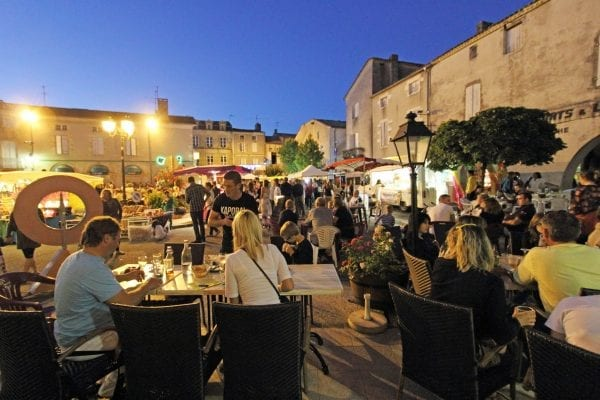 Popular summer night markets in many local towns around the region, this is at Duras