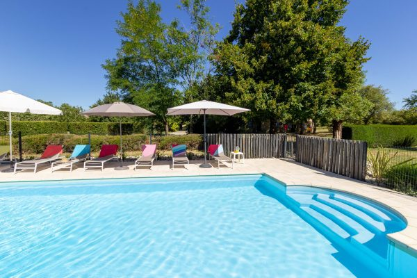 Fenced and gated private pool
