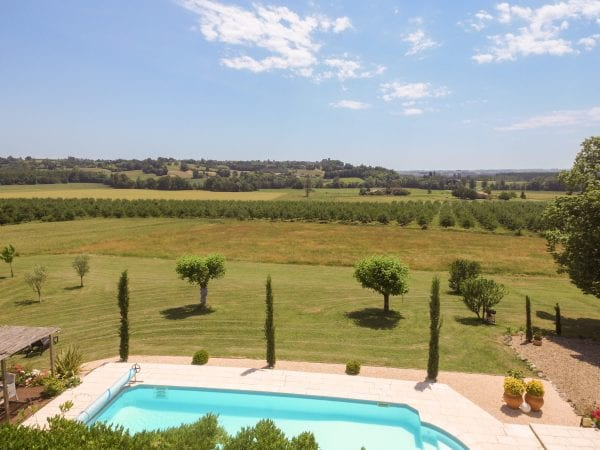 From the pool looking to Duras