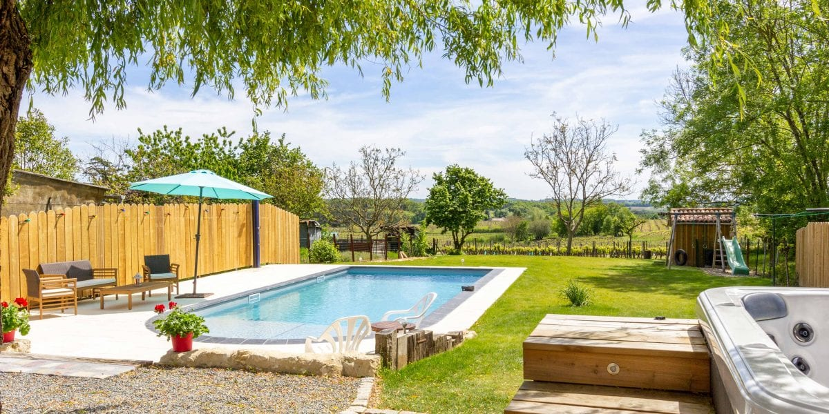 Holiday villa in the Dordogne village of Monbazillac near Bergerac south west France