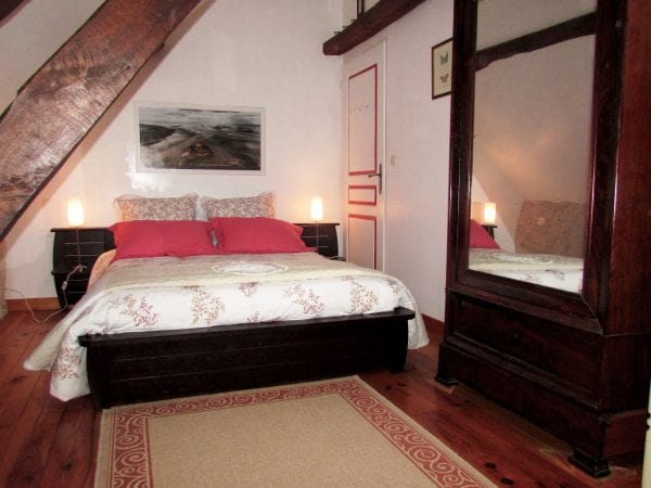 The master bedroom in Le Moulin