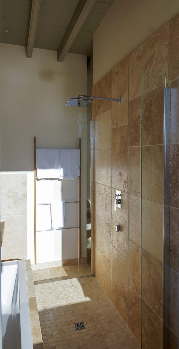 Master bedroom walk in shower