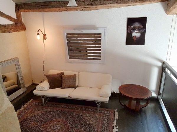 Mezzanine sitting area