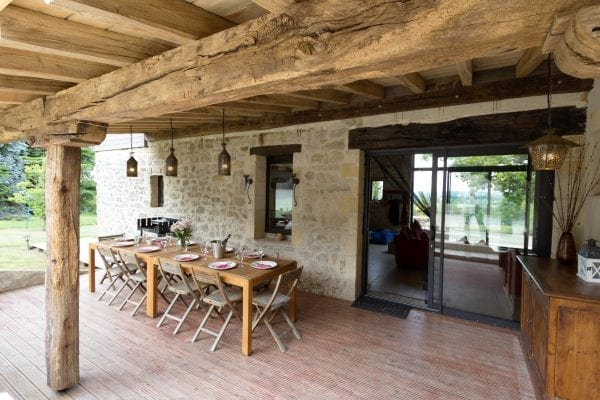 Oak framed covered terrace
