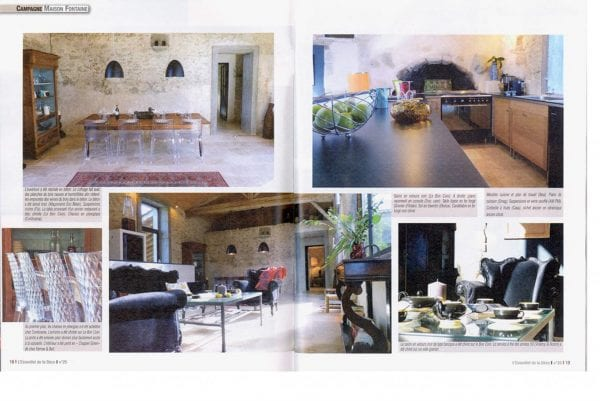 Featured with an 8 page spread of the house decoration magazine a L