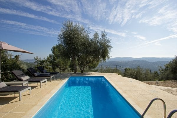 Private pool and terrace with views
