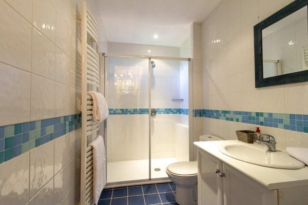 Shared shower room with bedrooms 3, 4 and 5, a further shower room is on the ground floor