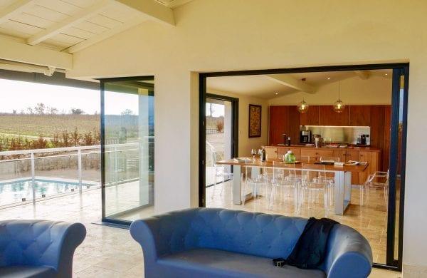 Sofas under the covered veranda