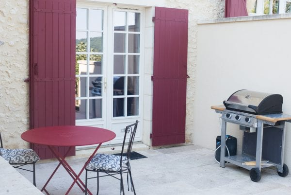 Private terrace and gas bbq