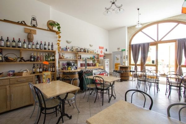 The local cafe at Dieulivol offers light snacks, wine and beer, you can also buy a bottle to take back with you