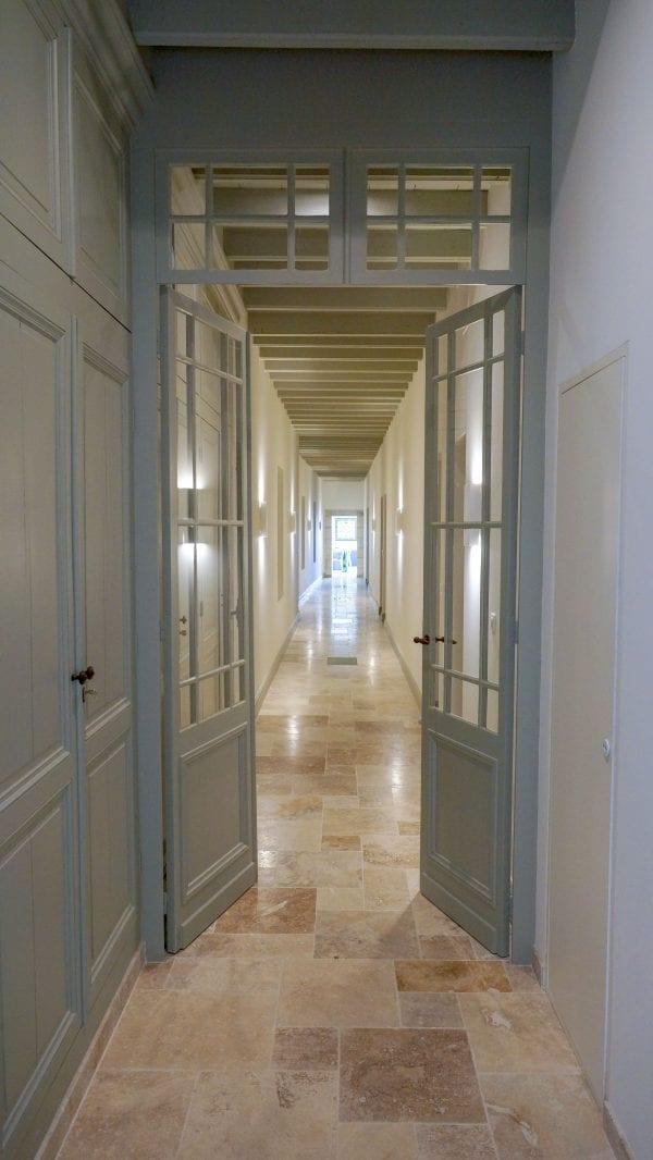 The bedrooms lead off the corridor