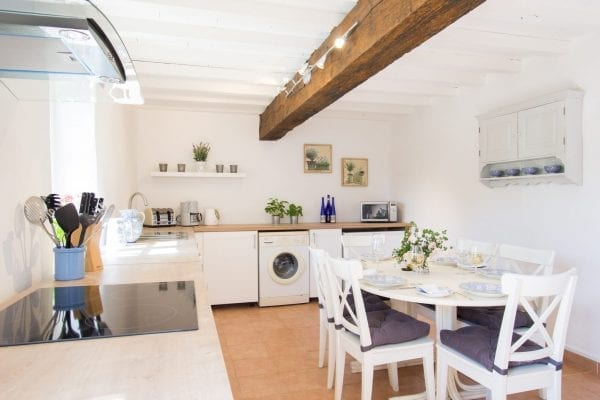 The annexe kitchen area