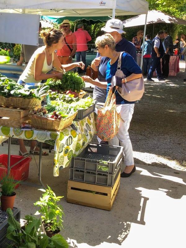 The local market a short walk away