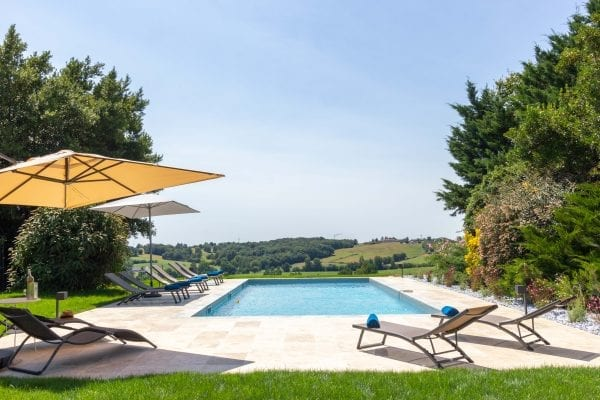 The private pool and sun terrace