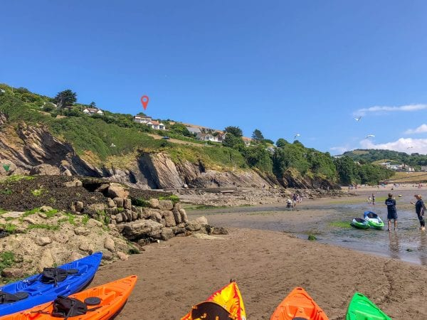 The property over looking Combe Martin beach