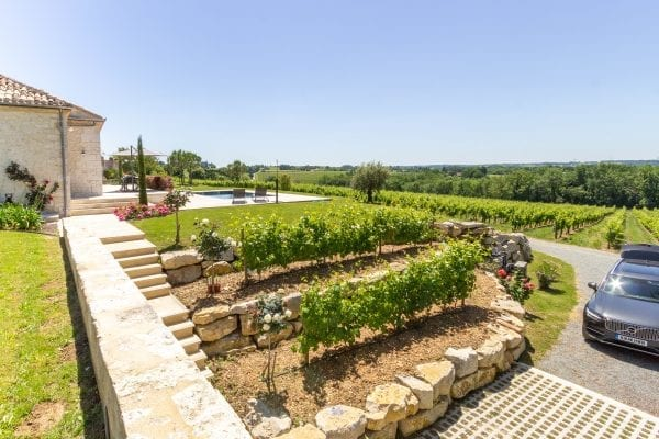 The villa is situated on a vineyard