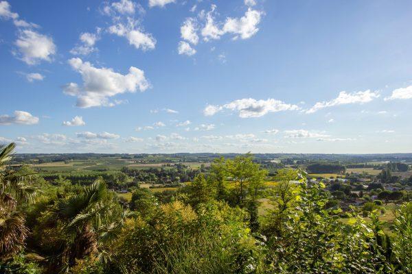 Views from Villa Belvedere, Duras looking towards Monsegur