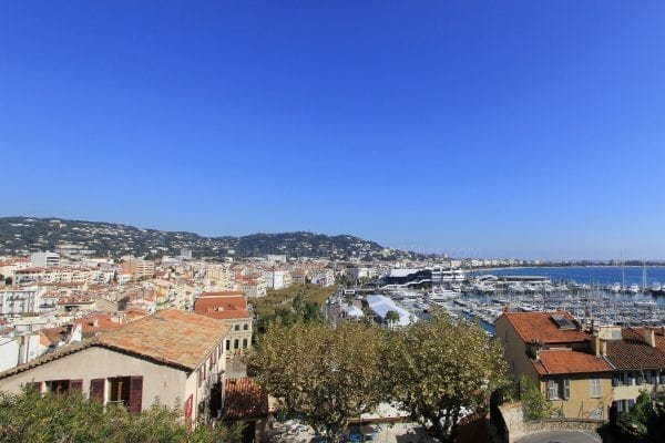 Views over cannes harbour from the castle