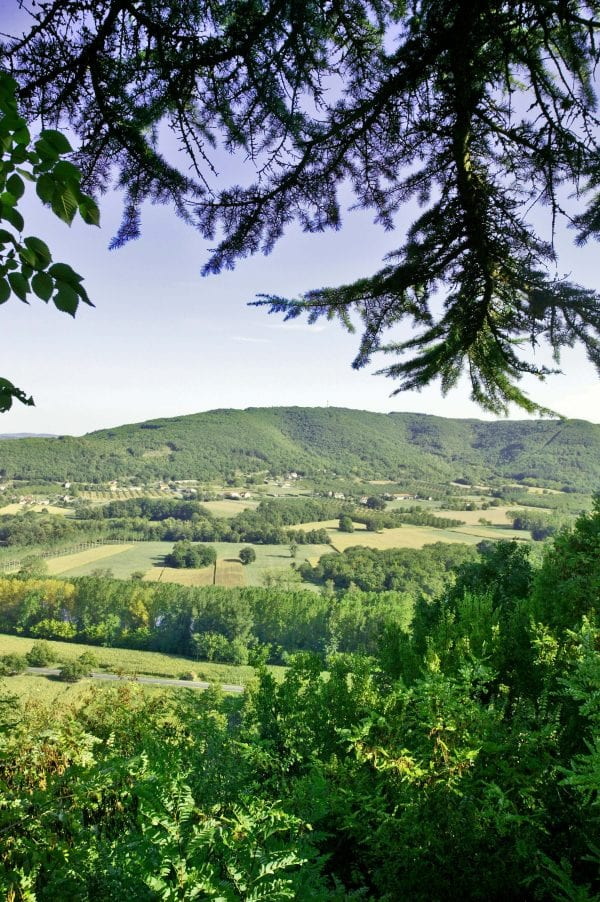 Walks from the villas, stunning views of the Dordogne valley