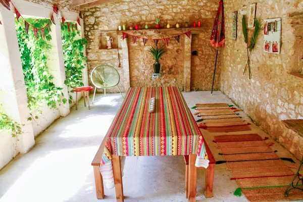 Your own dining space over looking your private courtyard