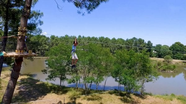 Zip wire park Accrobranche is conveniently next door